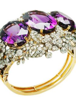 Amethyst and Diamond Bangle, England, ca. 1880