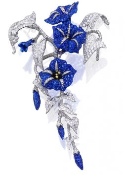 Sapphire and Diamond 'Convolvolo' Brooch, Michele Della Valle