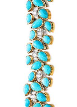 Turquoise and Diamond Bracelet, Cartier, 1962