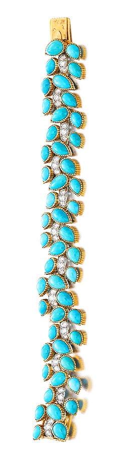 Turquoise and Diamond Bracelet, Cartier, 1962