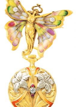 The Butterfly-Woman Pendant Watch, by Patek Philippe, ca. 1900