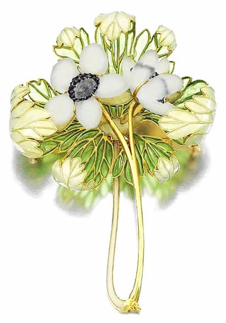 Anemones Brooch by Rene Lalique, ca. 1901