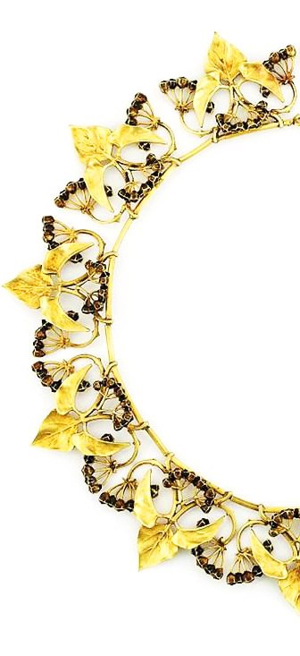 Gold and Enamel Necklace, by Lucien Gaillard, ca. 1900