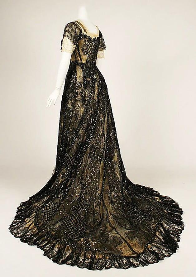 Evening dress, American, ca. 1906-1908