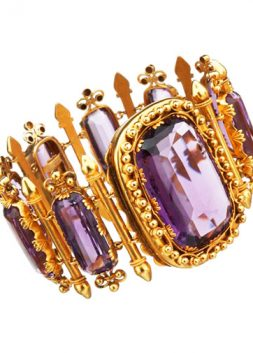 Gold and Amethyst Bracelet, ca. 1860