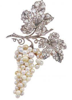 Pearl and Diamond Brooch, Van Cleef & Arpels, ca. 1915