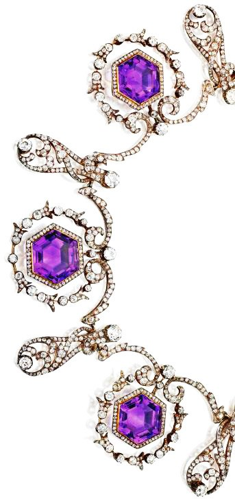Amethyst and Diamond Necklace, ca. 1900