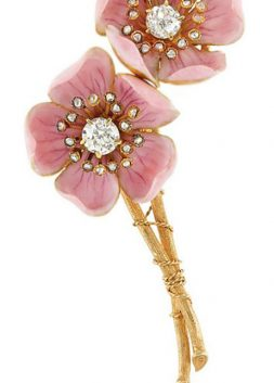 American Wild Rose Brooch, by Paulding Farnham for Tiffany & Co., ca. 1890