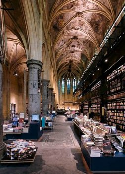 Bookstore at Dominican church in Maastricht, Holland