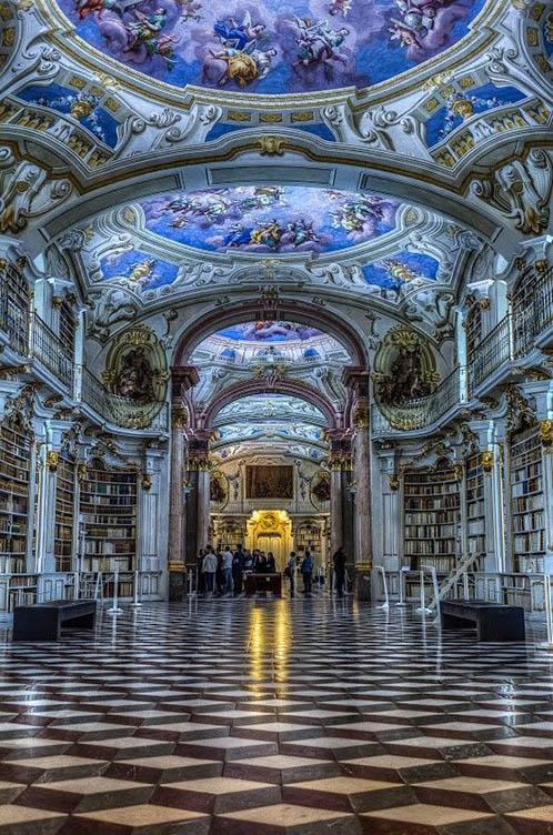 The Admont Monastery Library, Admont, Austria