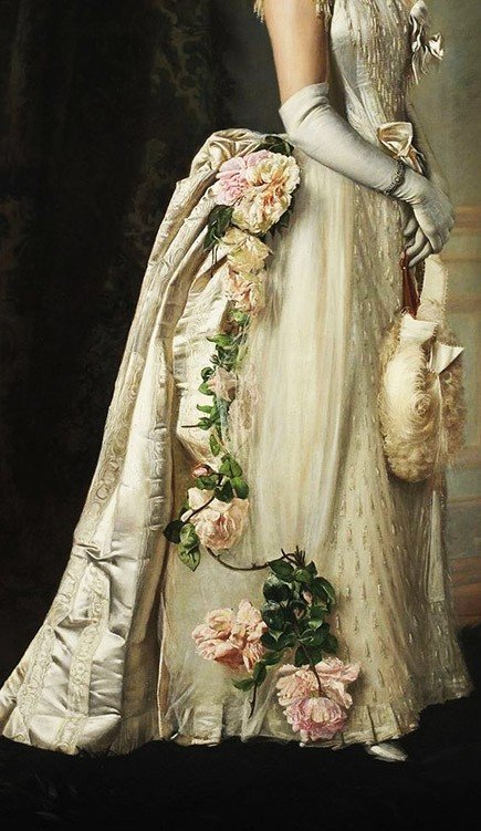 Portrait of an Elegant Lady, detail