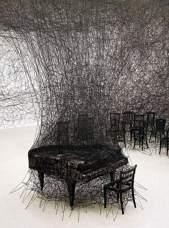 Silence Art Installation by Chiharu Shiota