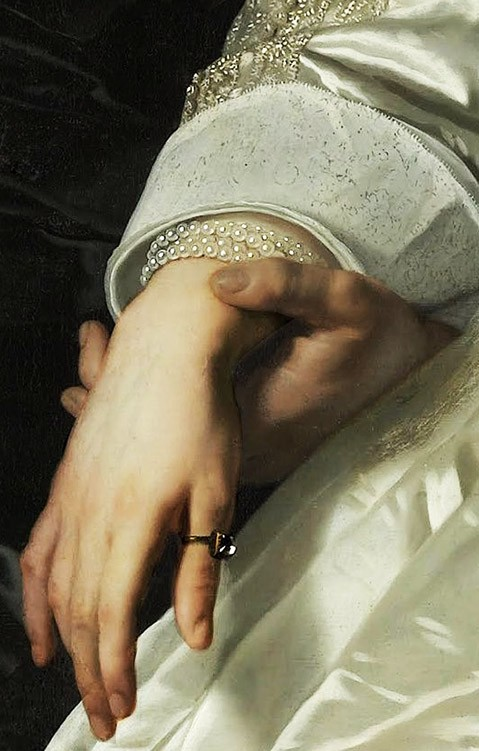 Abraham del Court and his wife Maria de Kaersgieter, detail