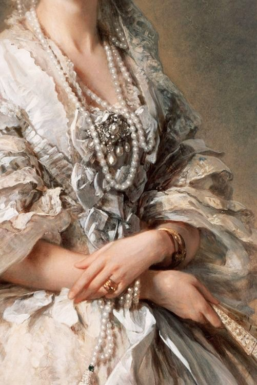Portrait of Empress Maria Alexandrovna, detail