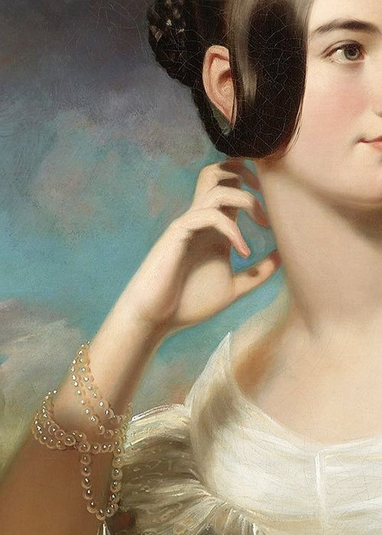Miss Jane Mercer, detail