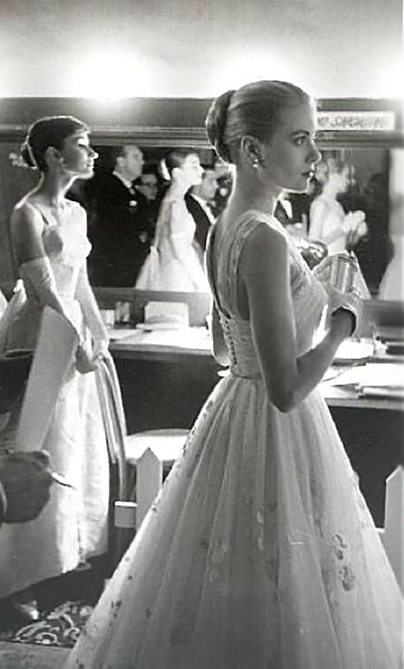 Grace Kelly and Audrey Hepburn