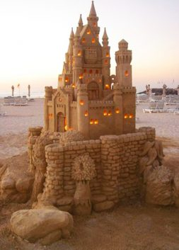 Illuminated Sandcastle by Jenny Rossen