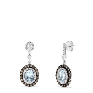 Effy 14K White Gold Aquamarine and Diamond Earrings, 2.37 TCW