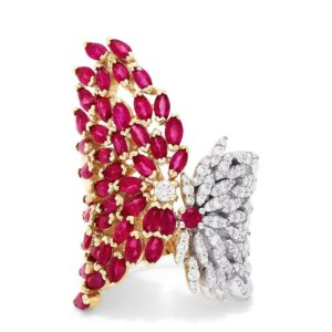 Effy Ruby Royale 14K Yellow Gold Ruby and Diamond Ring, 5.56 TCW
