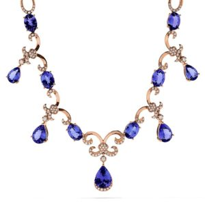 Effy Tanzanite Royale 14K Rose Gold Tanzanite & Diamond Necklace, 11.90 TCW