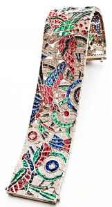 Ruby, Sapphire, Emerald and Diamond Platinum Bracelet, by Oscar Heyman, ca. 1922