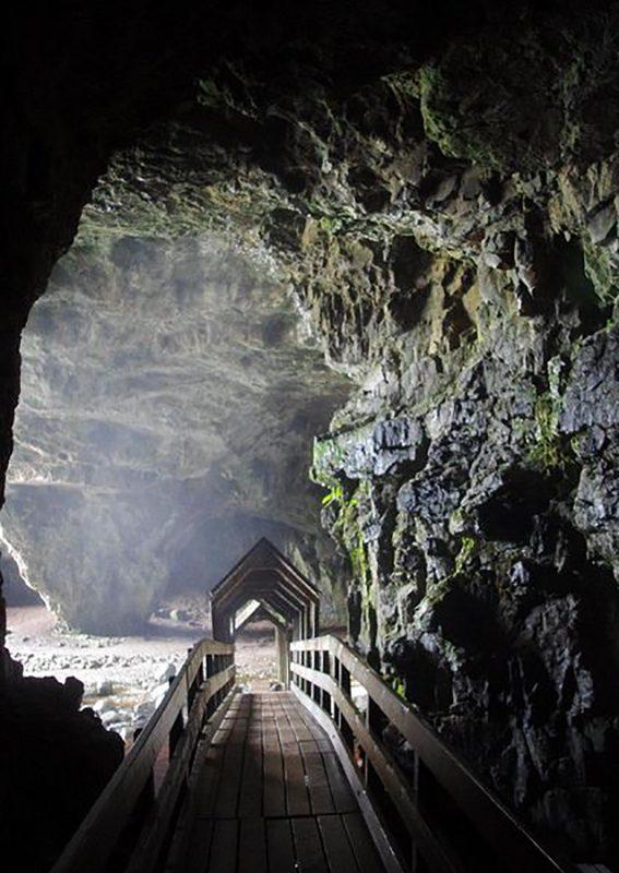 Smoo Cave, Durness in Sutherland, Highland, Scotland