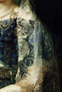 María Cristina de Borbón-Dos Sicilias, Reina de España, detail