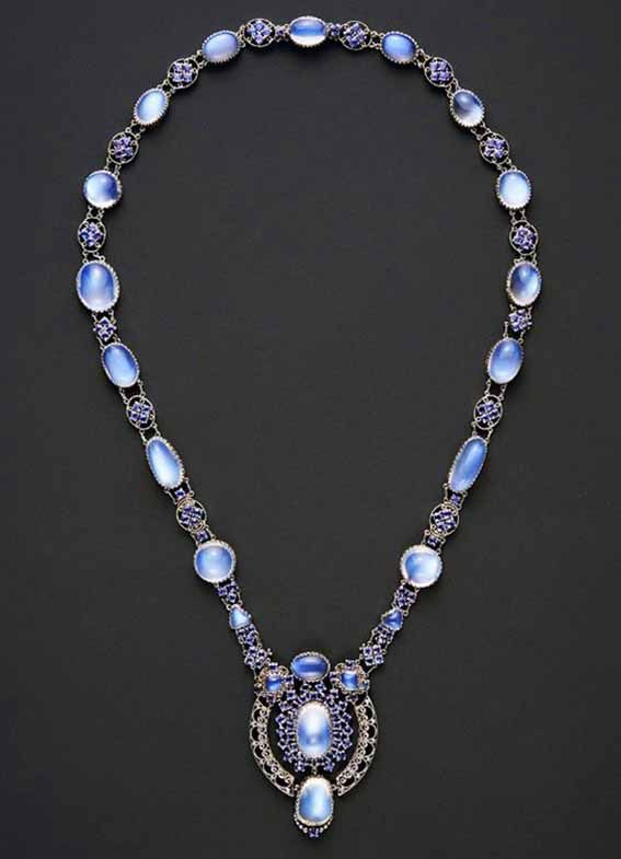 Necklace with Pendant, by Louis Comfort Tiffany, ca. 1910