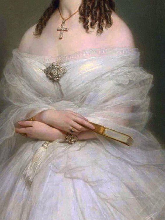 Portrait of Mrs Vanderbyl, detail