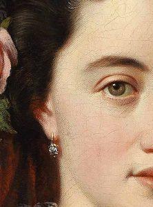 Portrait of Countess Natalia Alexandrovna of Merenberg nee Pushkina, detail
