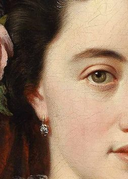 Portrait of Countess Natalia Alexandrovna of Merenberg nee Pushkina, detail