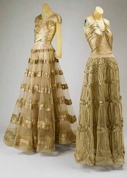 Evening Dresses by Madeleine Vionnet, 1938