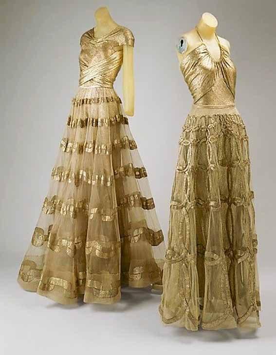 Evening Dresses by Madeleine Vionnet, 1938