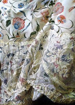 Madame de Pompadour at her Tambour Frame, detail