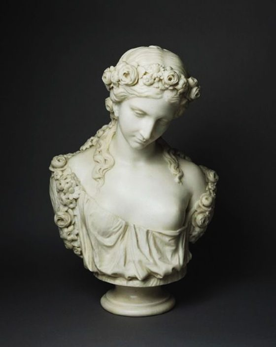 Bust of a Nymph by Charles-Henri-Joseph Cordier