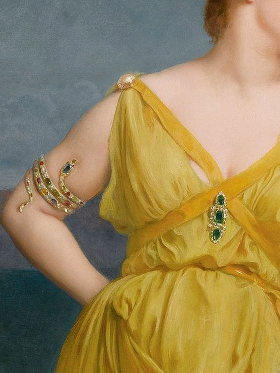 Mrs. Charles Kettlewell by Frederick Goodall, detail