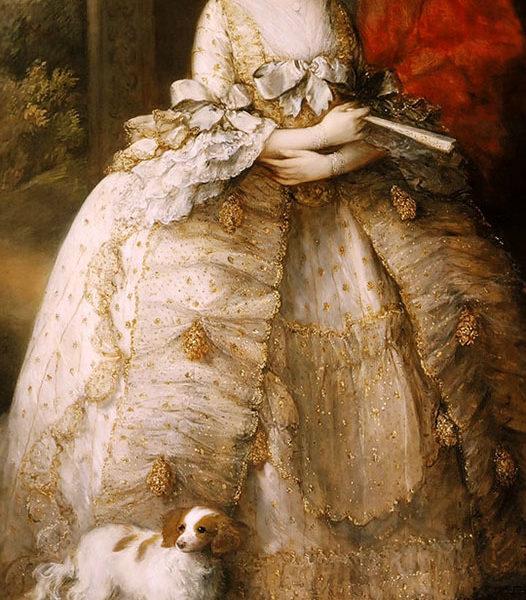 Queen Charlotte by Thomas Gainsborough, detail